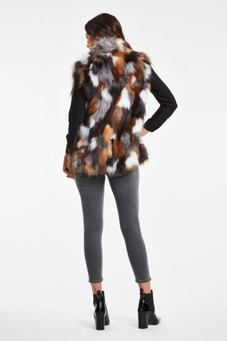 SILVER AND GOLDEN FOX SECTIONS VEST #690