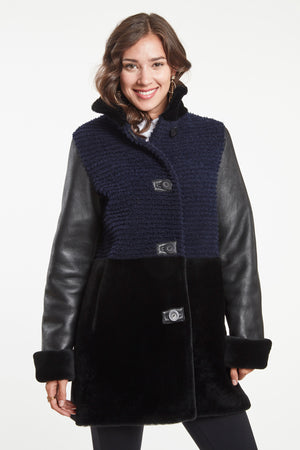 Load image into Gallery viewer, GROOVED SHEARLING JACKET #462G SOLD OUT