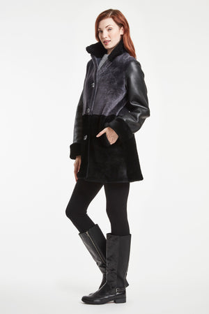 Load image into Gallery viewer, #135 Color Bloc Shearling Jacket