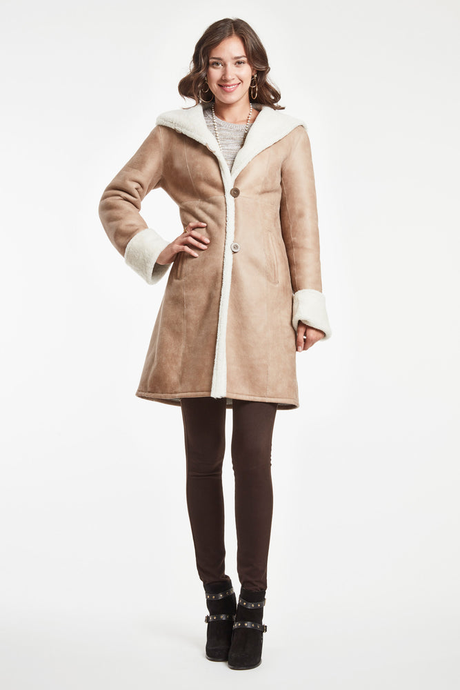 CLASSIC FITTED COAT WITH HOOD #2692HD