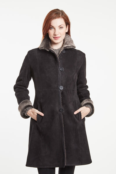 CLASSIC FITTED COAT WITH TAILORED  FRONT #6205