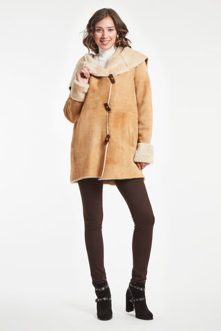 SHEARLING JACKET WITH TOGGLE CLOSURES #484