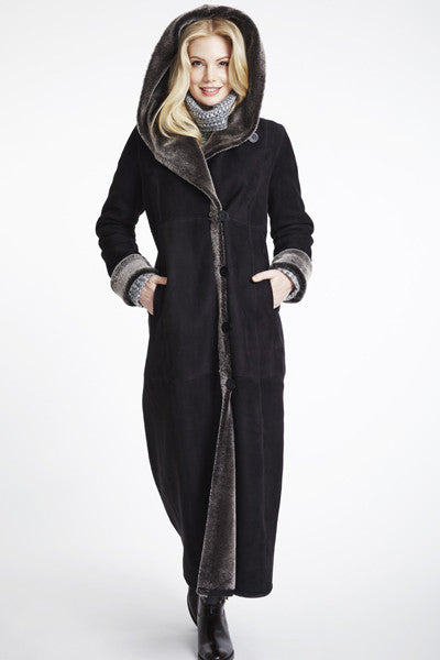 #6423 Long Long Hooded Coat Retaio $2795 now 50% off $1295