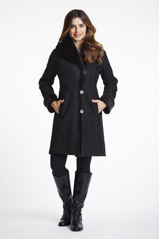 Shawl Collar Fitted Coat #1295