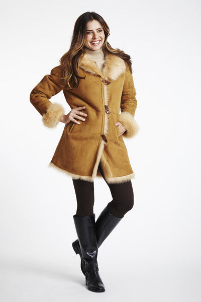Load image into Gallery viewer, Toscana Lamb Parka #330-SALE