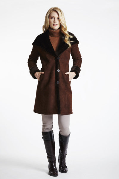 #1294 Fitted Merino Shearling with Full Hood  SALE $895