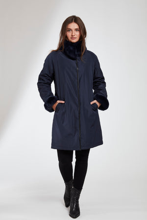 Load image into Gallery viewer, #8190 REVERSIBLE STORM COAT  SALE $595