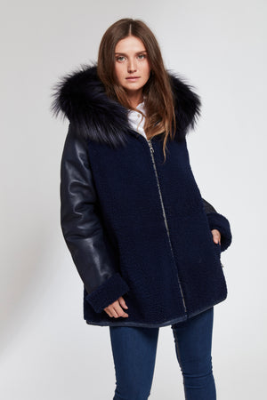 Load image into Gallery viewer, #102 THE Shearling Jacket Reduced $590.00