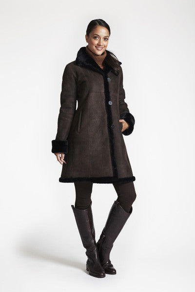 467d0d615 Shearling Fitted Coat With Shearling Hem #3027. $1,895.00. $797.00. Blue  duck ...