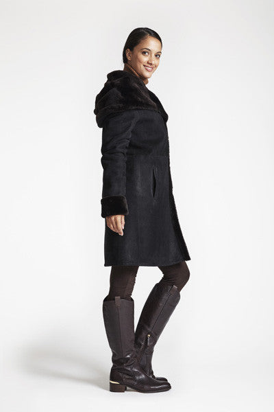 Load image into Gallery viewer, #4291 Fitted Hooded Shearling REDUCED