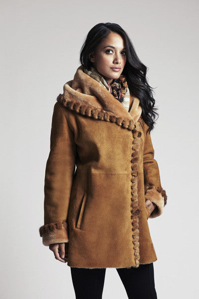 MINK WHIP STITCH FITTED JACKET #539