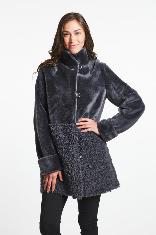 #287 Packed with style  Reversible Shearling   Sale $999 now 35% 0ff $635