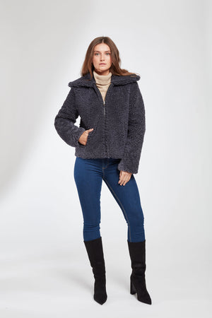 Load image into Gallery viewer, #199 So Now Curly Shearling Jacket  REDUCED