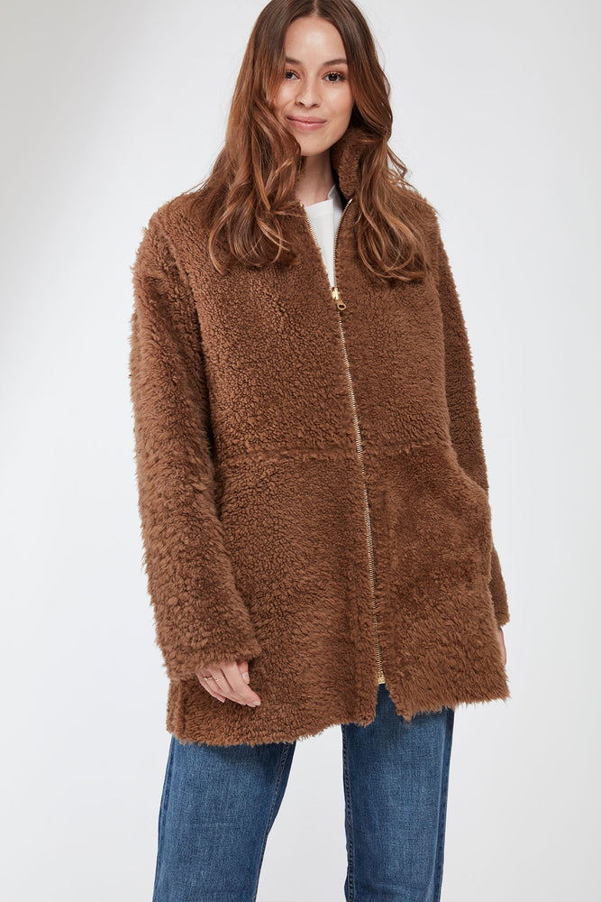 #108 Cozy Shearling Lamb Shown Malt  avaialble in chocolate brown or black only $590