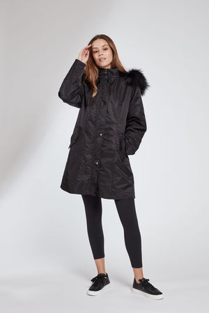 Load image into Gallery viewer, #1105 Storm Coat w/ Removable Fur Liner  Holiday Priced  $325