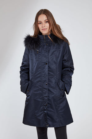 Load image into Gallery viewer, #1105 Storm Coat w/ Removable Fur Liner Super Sale $227  One of our very best