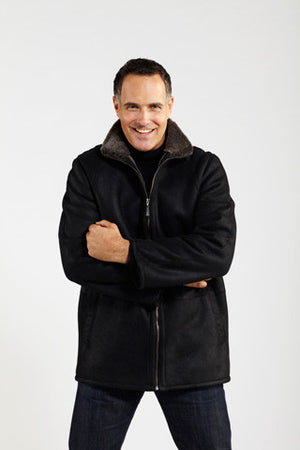 Load image into Gallery viewer, #001Z Zip Front Casual Coat reg $1895  Sale $995