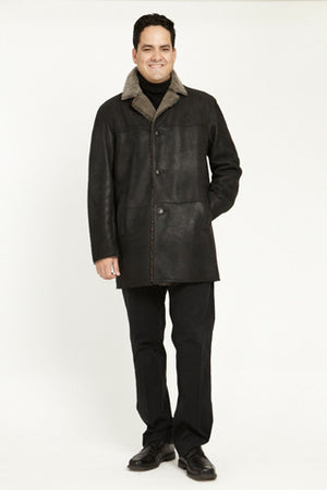 Rugged Jacket With Notch Collar #112