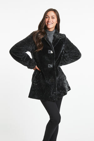 Load image into Gallery viewer, #645 Downtown Girl Shearling Topper