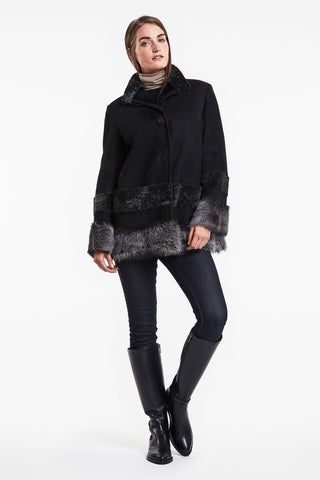 Fanciful shearling topper #557