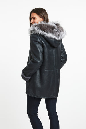 Load image into Gallery viewer, #935 Granite Planet Shearling Parka $1795 60% off $718