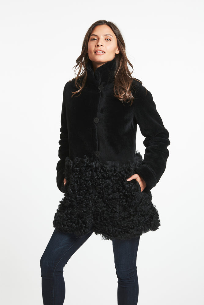 #747A A Little Bit Cool in a Shearling Coat REDUCED