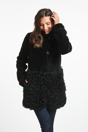 Load image into Gallery viewer, #747A A Little Bit Cool in a Shearling Coat REDUCED