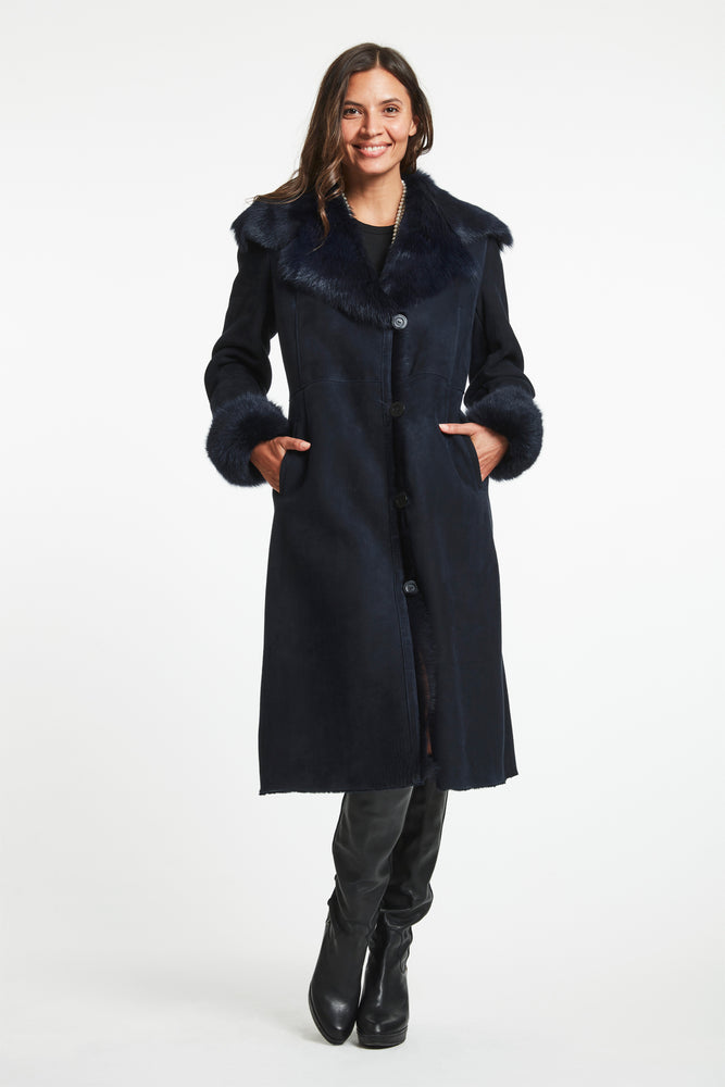 #2627A  SHEARLING MIDI COAT