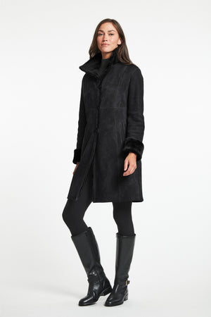Load image into Gallery viewer, #8194  Great Fitted Shearling Reversible Coat  Best  SALE $850
