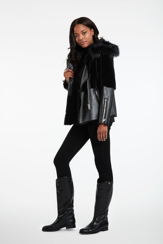 Load image into Gallery viewer, #883 Moto/Moto  Lamb Biker Jacket last ones Big Rdeuction ws $1499 now $290 no further discount