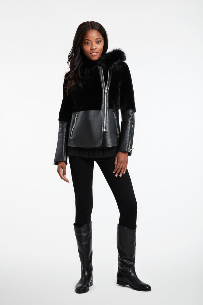#883 Moto/Moto  Lamb Biker Jacket last ones Big Rdeuction ws $1499 now $290 no further discount