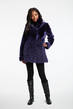 Load image into Gallery viewer, #747P Reversible Shearling purple  REDUCED