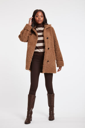 Load image into Gallery viewer, #847 Teddy Topper Reversible Shearling  BLACK ONLY SHOWN IN MALT SOLDOUT
