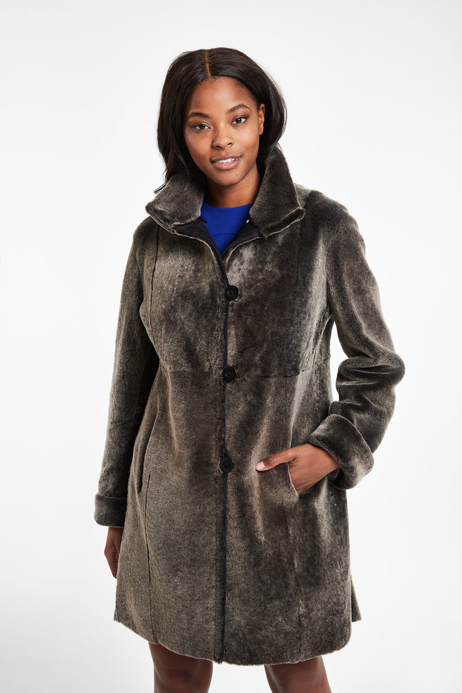 #4918 Warm And Wonderful Reversible Shearling reg $2295 now 70% off  $689