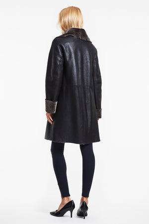 Load image into Gallery viewer, #3178 Unconstructed Shearling Coat