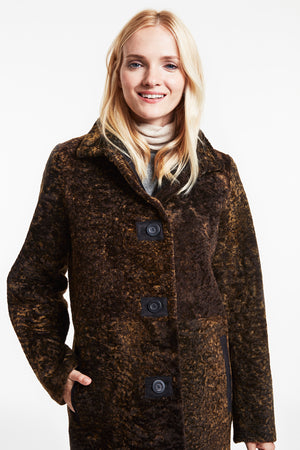 Reversible shearling coat #8250