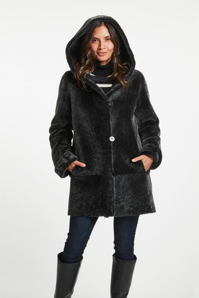 #776 SWINGER A-LINE REVERSIBLE SHEARLING REDUCED