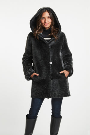 Load image into Gallery viewer, #776 SWINGER A-LINE REVERSIBLE SHEARLING REDUCED