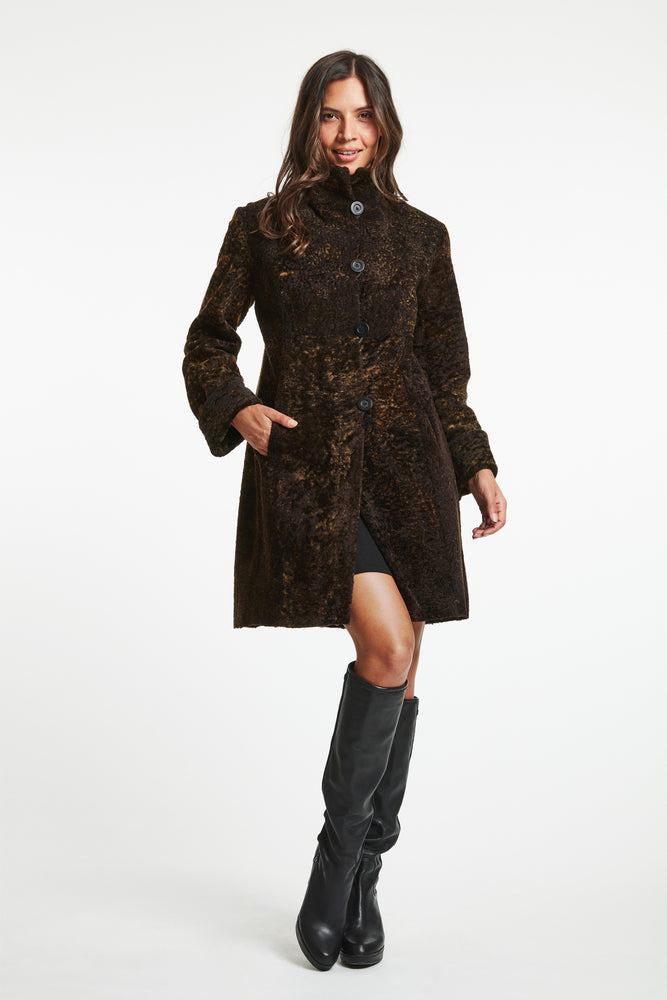 #2204 Madison Ave Fine Shearling reg $2495 60% off now $995.00