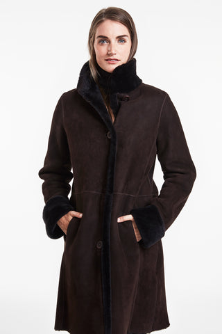 Reversible shearling coat #7271