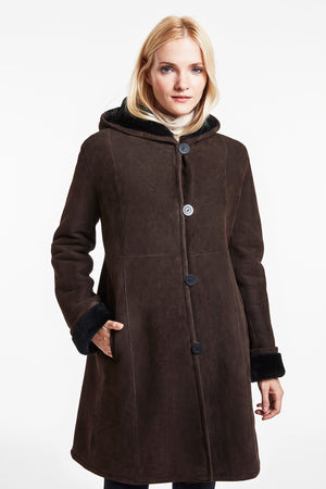 Load image into Gallery viewer, Body flattering shearlling coat #2927