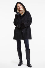 Reversible shearling coat #727