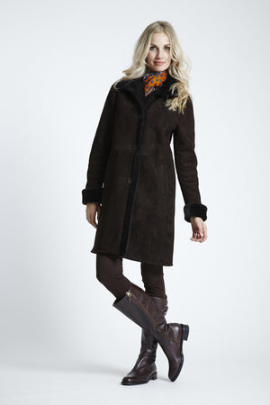 Load image into Gallery viewer, Classic Shearling Walking Coat #4725