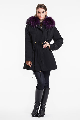 FUR LINED ALL WEATHER PARKA  #8827