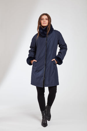 Load image into Gallery viewer, #8190  Reversibe Storm Coat Super Sale $499 now 50% off $249