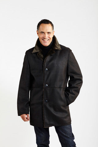 Load image into Gallery viewer, #901 Napa Finish Raw Edge Shearling Coat