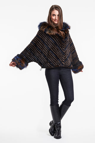 Bat wing mink jacket #776