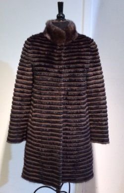 Load image into Gallery viewer, #015  Reversible Mink Coat  Last One SIZE l BLACK MINK  LARGE WAS $2295 NOW $690