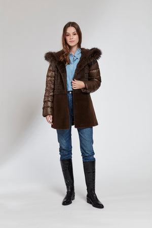 Load image into Gallery viewer, #115  Fox Hooded Fur Topper