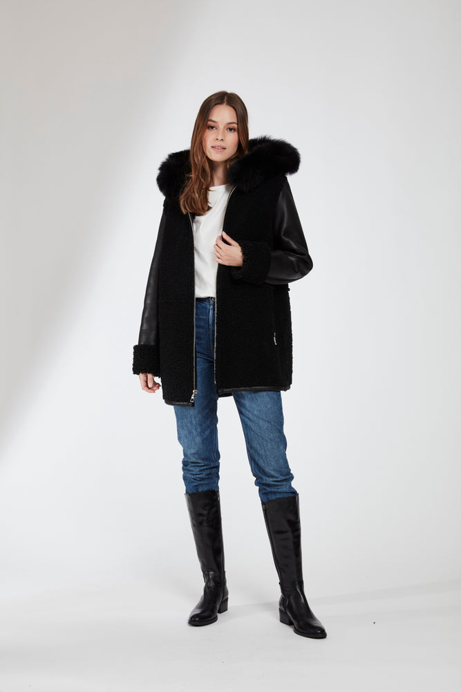 #102 THE Shearling Jacket Reduced $590.00